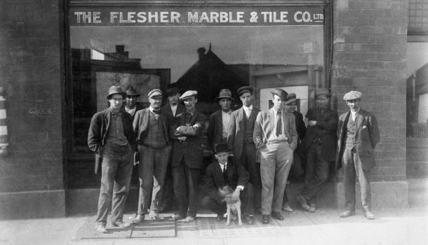 Archive picture form Fletcher Marble and Tile's Team